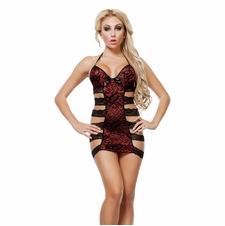 Strappy Lace Chemise With Bows