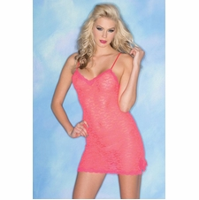 Stretch Chemise With Matching Thong