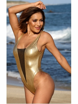 Ujena Diamond Martini One Piece Bathing Suit