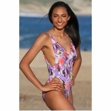 Ujena Malibu Cheeky Bikini Purple Breeze Swimwear