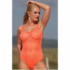 Ujena Sheer Festival One Piece Bathing Suit