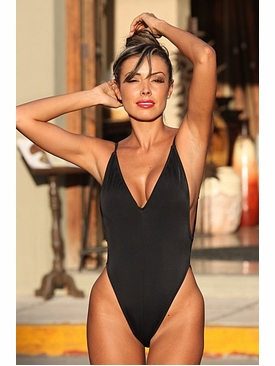 Ujena Swimwear 1302  Black Fabulous Figure Shaper Bathing Suit