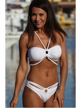 Ujena Swimwear E232  Monte Carlo White Bikini Bathing Suit