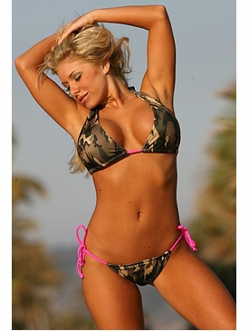 Ujena Swimwear M291  Camo Colombian Side Tie String Bikini Bathing Suit