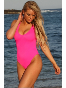 Ujena Swimwear N112  California Hot Pink One Piece