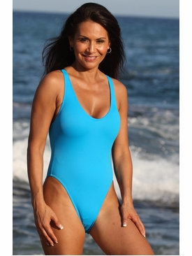 Ujena Swimwear N114 California Turquoise One Piece Bathing Suit