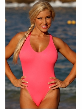 Ujena Swimwear N121  California Coral One Piece