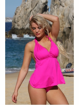 Ujena Swimwear N260 Open Back Tankini Bathing Suit