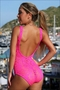 Sheer Festival One Piece Bathing Suit