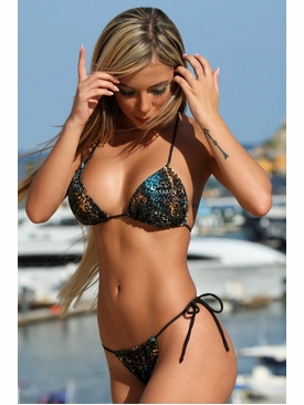 Ujena Swimwear X248  Fantasy Jungle G-String Swimsuit