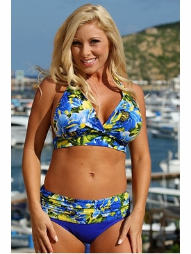 Ujena Swimwear X257  Royal Islands Minimizer Plus Size Swimsuit to 3X