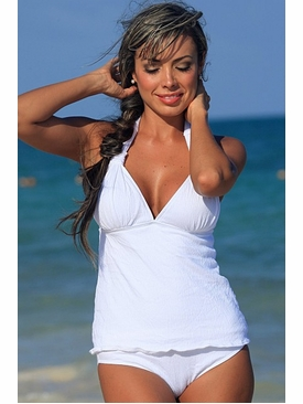 Ujena Swimwear Z318  Gauze Sexy Tankini Bathing Suit