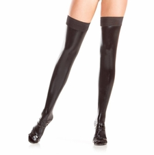 Wet Look Stay Up Thigh Highs