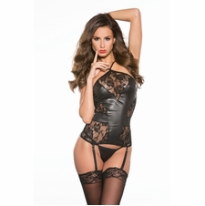 Wet Look Tops, Corsets and Bustiers