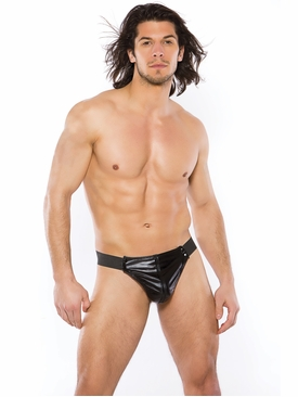 Men's Zeus Wet Look Thong