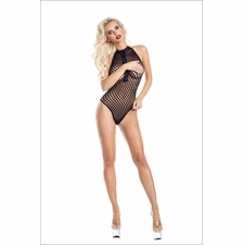 Zip-Up Net Bodystocking