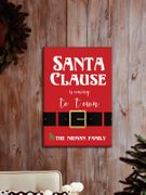 Personalized Santa Is Coming To Town Canvas