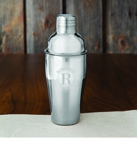 Circle Monogram Cocktail Shaker