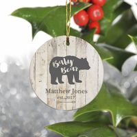 Personalized Bear Family Christmas Ornament - Baby Bear