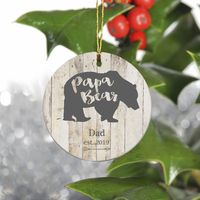Personalized Bear Family Christmas Ornament - Papa Bear