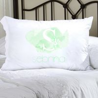 Personalized Kids Watercolor Pillowcase