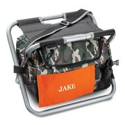 Personalized Camo Sit 'N Sip Cooler with Colored Patch