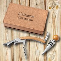 Personalized Wine Opener Set - Cork