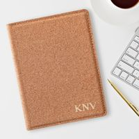 Monogrammed Cork Passport Holder