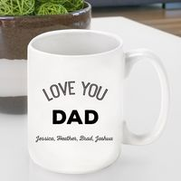 Personalized Love You Dad/Grandpa Coffee Mug