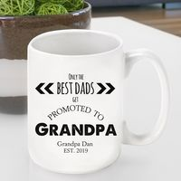 Promoted to Grandpa Coffee Cup