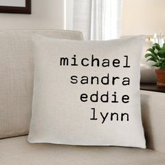 Family Names Personalized Throw Pillow