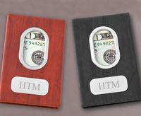 Professional Personalized Money Clip - Black or Brown