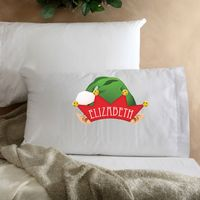 Personalized Kids Elf Christmas Pillow