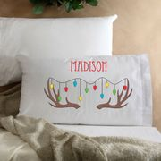 Personalized Kids Reindeer Christmas Pillow
