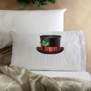 Personalized Snowman Kids Christmas Pillow