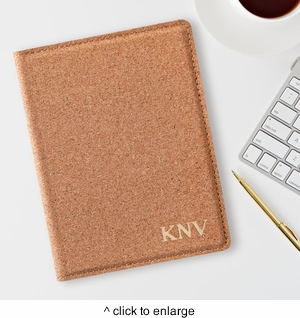 Monogrammed Cork Passport Holder - click to enlarge