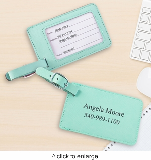 NEW Mint Luggage Tag - click to enlarge
