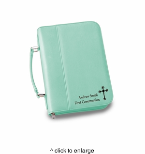 NEW Personalized Mint Small Bible Case - click to enlarge