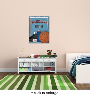 Personalized Basketball Canvas - click to enlarge