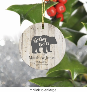 Personalized Bear Family Christmas Ornament - Baby Bear - click to enlarge
