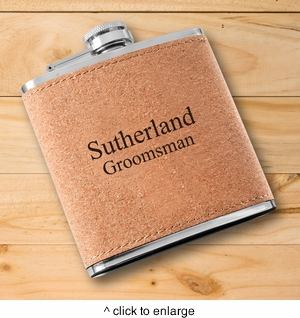 Personalized Cork Flask - click to enlarge