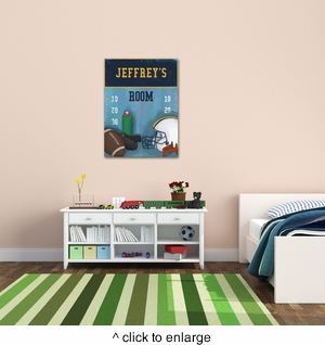 Personalized Football Canvas - click to enlarge