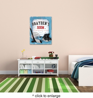 Personalized Hockey Canvas - click to enlarge