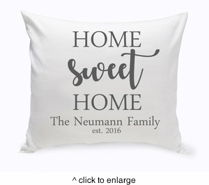 Personalized Home Sweet Home Throw Pillow - click to enlarge