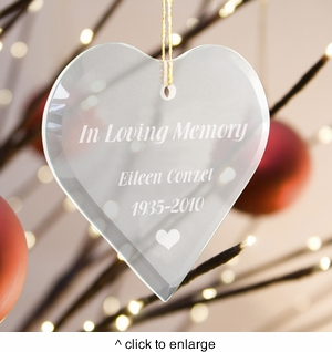 Personalized In Loving Memory Ornament - click to enlarge