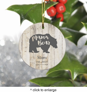 Personalized Bear Family Christmas Ornament - Mama Bear - click to enlarge