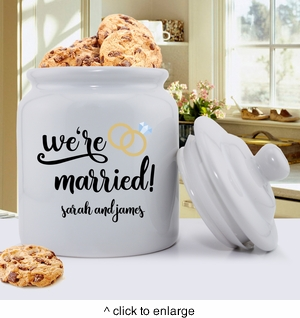 Personalized Married Cookie  Jar - click to enlarge