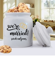 Personalized Married Cookie  Jar