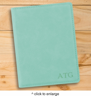 Personalized Mint Passport Holder - click to enlarge