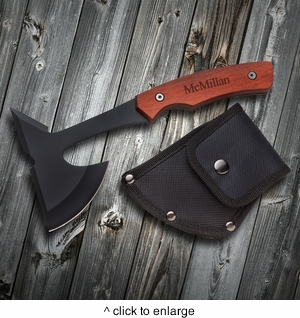 Personalized Saw Mountain USA Axe - click to enlarge